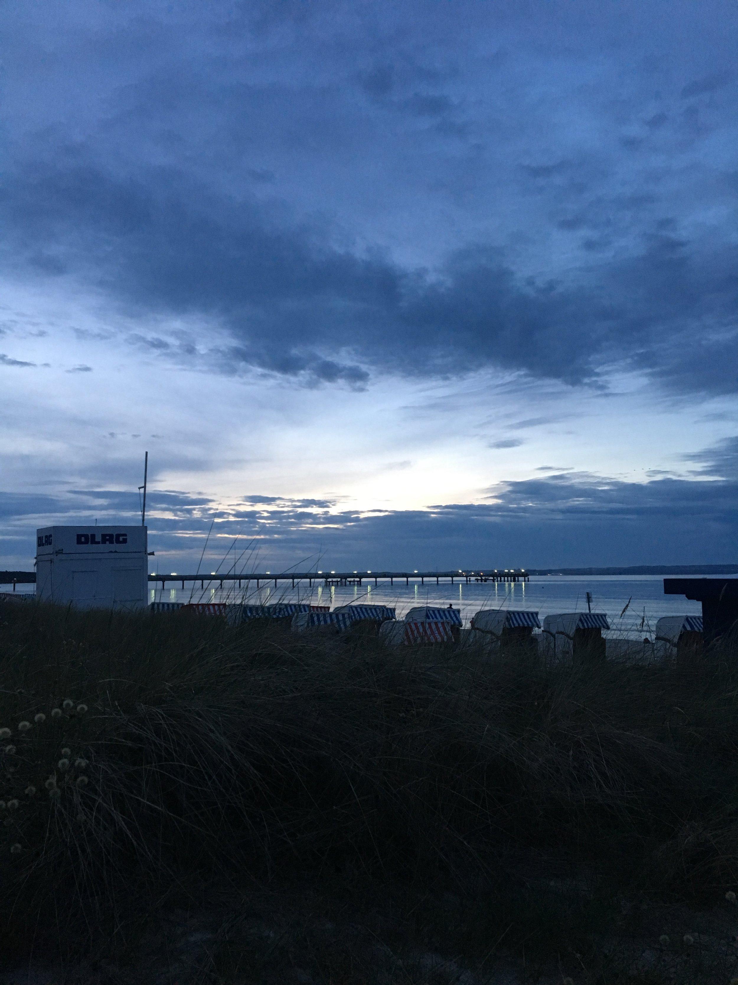 Binz Rueben beach at night