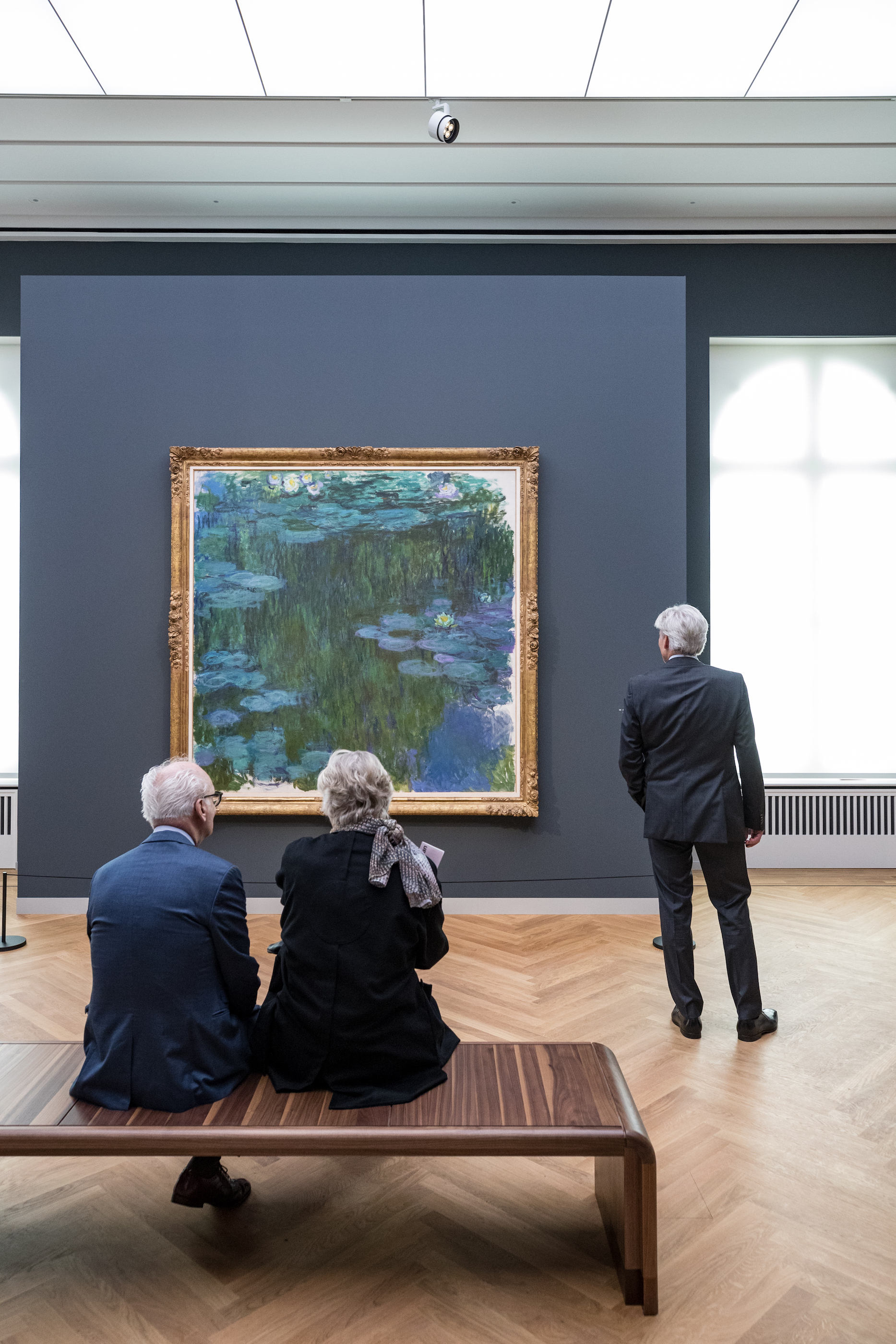 "Exhibition view ""Impressionism. The Art of Landscape"" with Claude Monet's Water Lilies, Museum Barberini, Photo: Helge Mundt, © Museum Barberini"