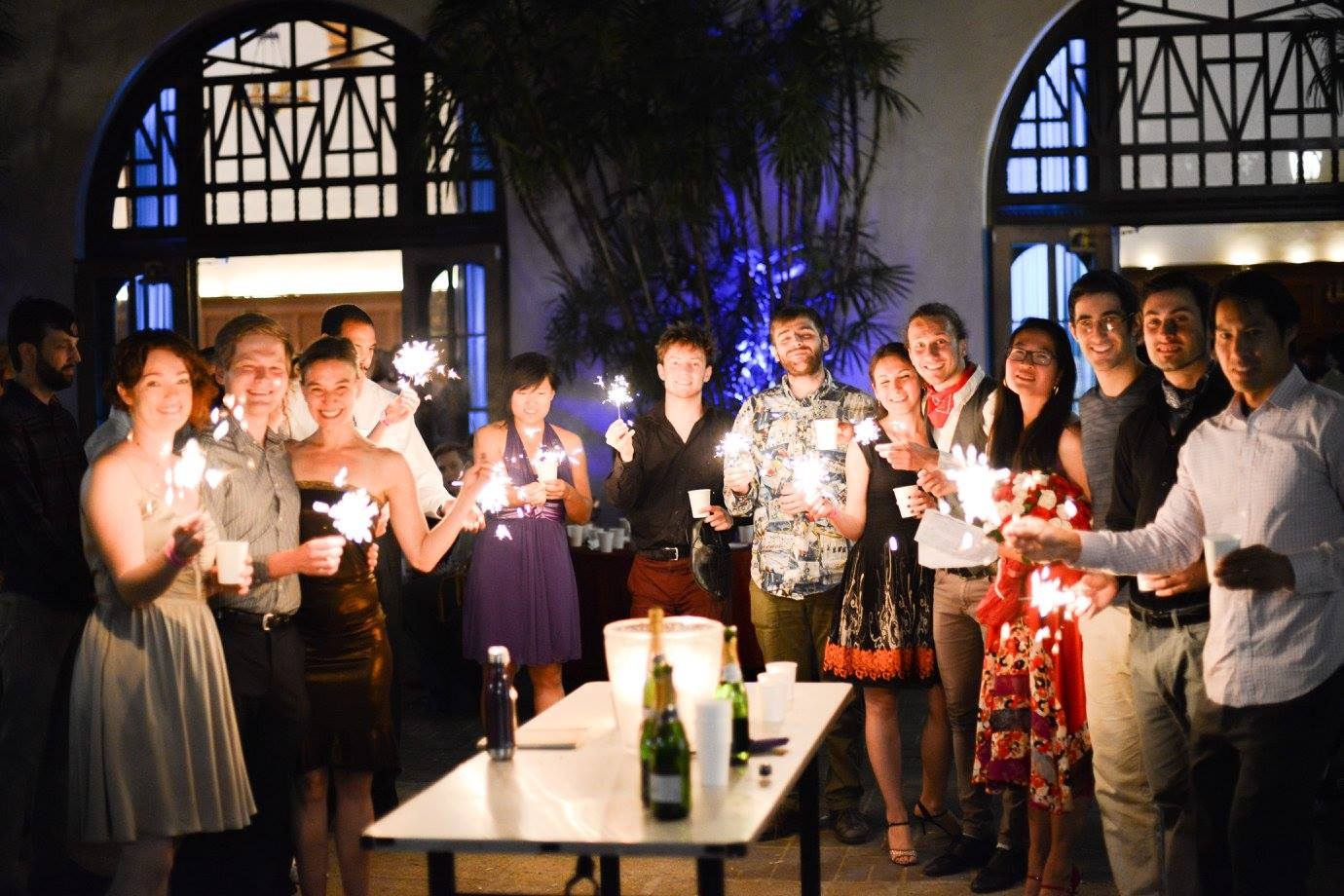 Caltech Tango Club participants and their partners at their Tango Challenge graduation at the student-organized Caltech Tango Marathon