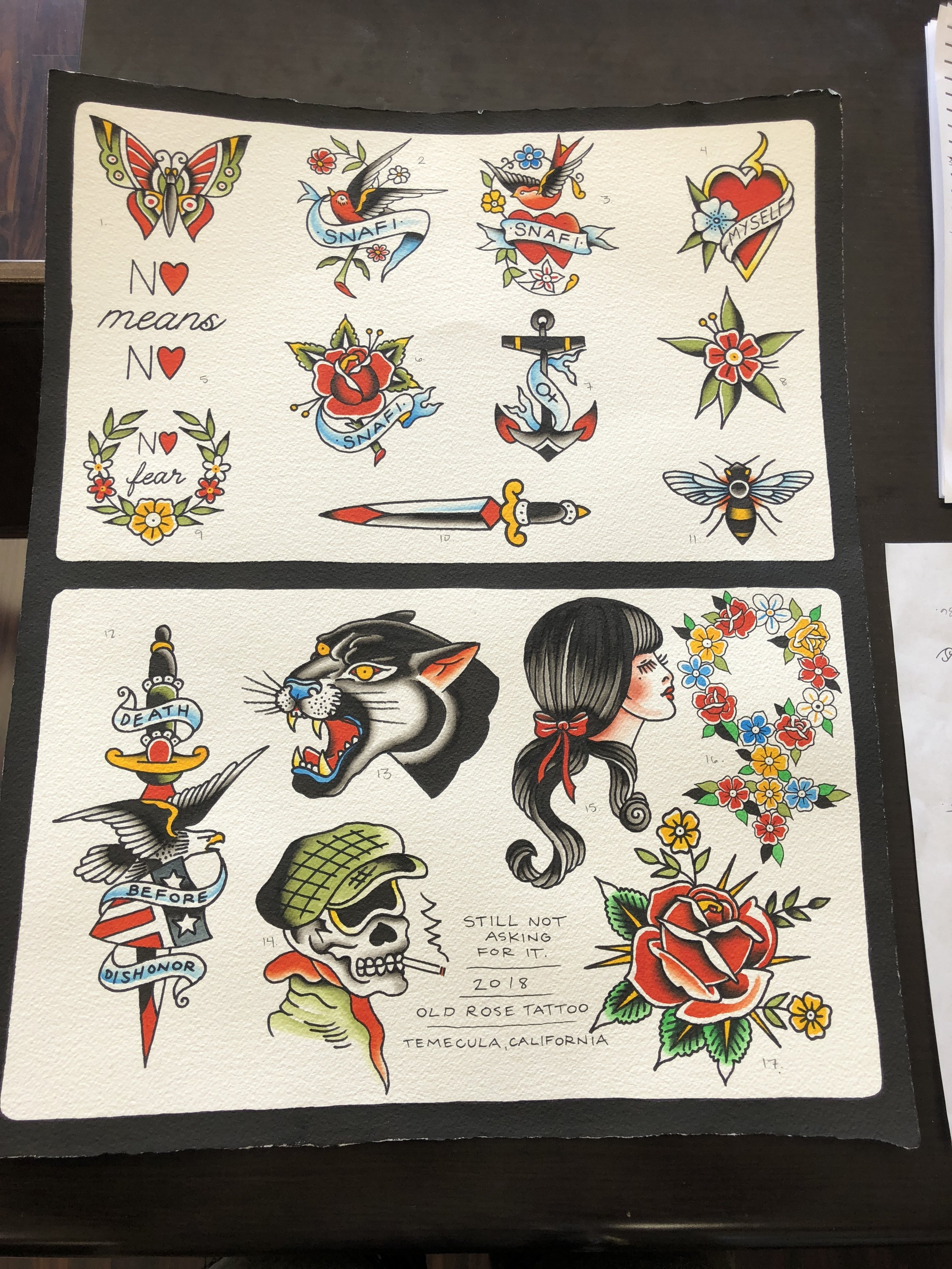 $100 and $200 flash sheet.