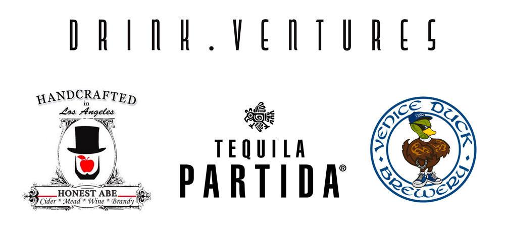 Open-bar made possible by  DRINK.VENTURES  partners:  -  Honest Abe Hard Cider   -  Tequila Partida   -  Venice Duck Brewery