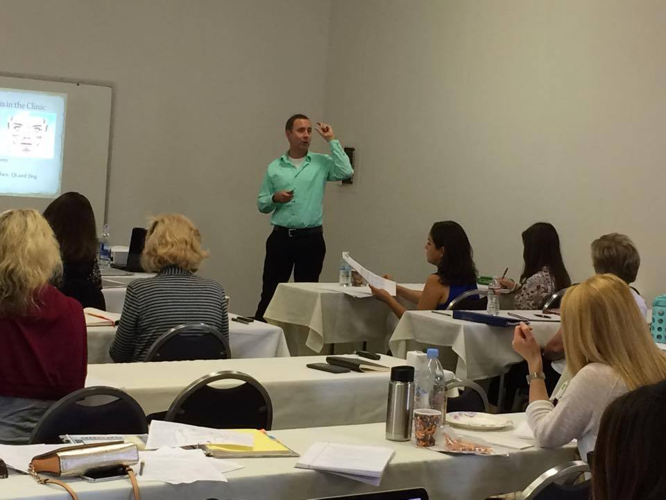 Teaching Applied Facial Diagnosis for the Lotus Institute Master Face Reading Certification Program in San Diego.