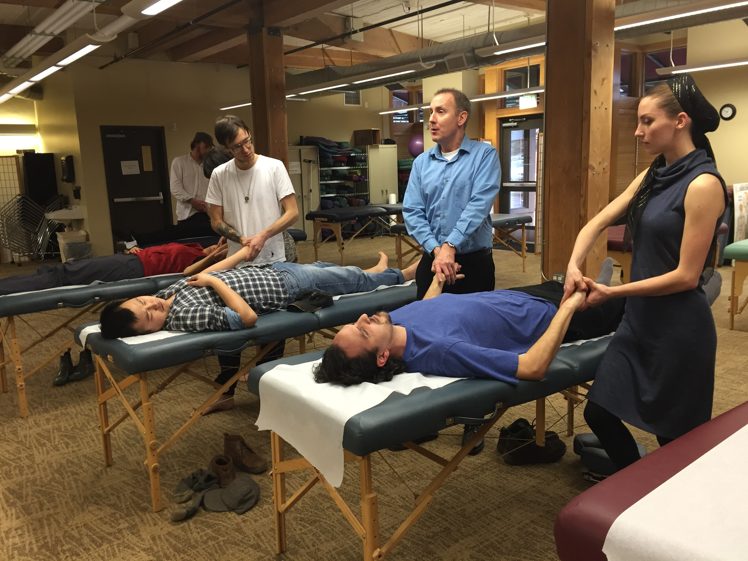 Teaching Channel Palpation at the Oregon College of Oriental Medicine, February 2016.