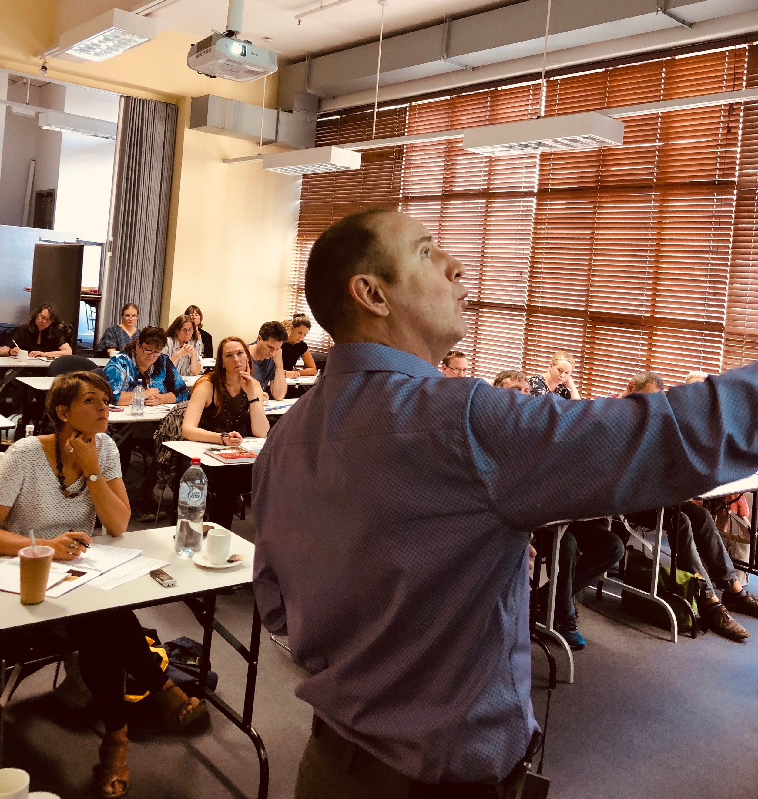 CT teaching a three-day seminar in Melbourne Australia for China Books, February 2019.