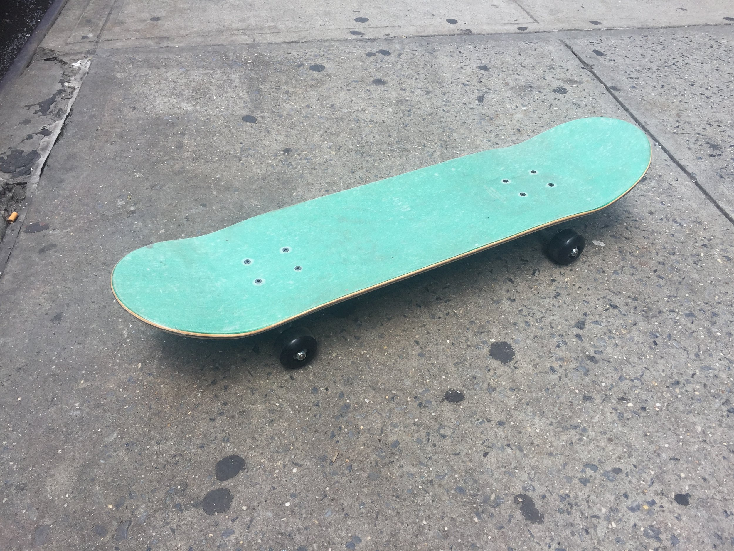 "SKATEBOARD 3 TOP  SOLID GREEN 31.5"" IN LENGTH"