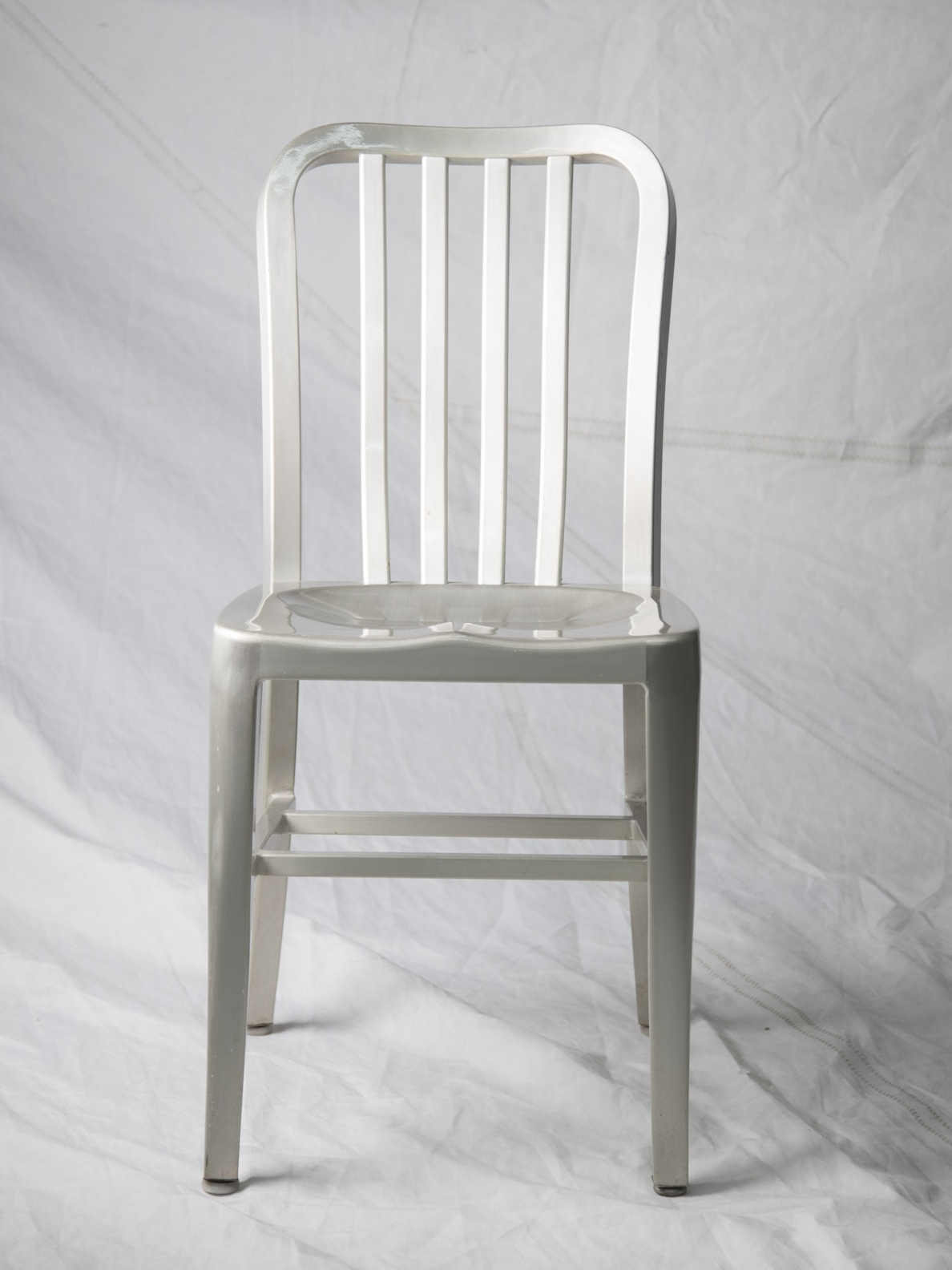 CH061  Vintage aluminum side chair  $75/week