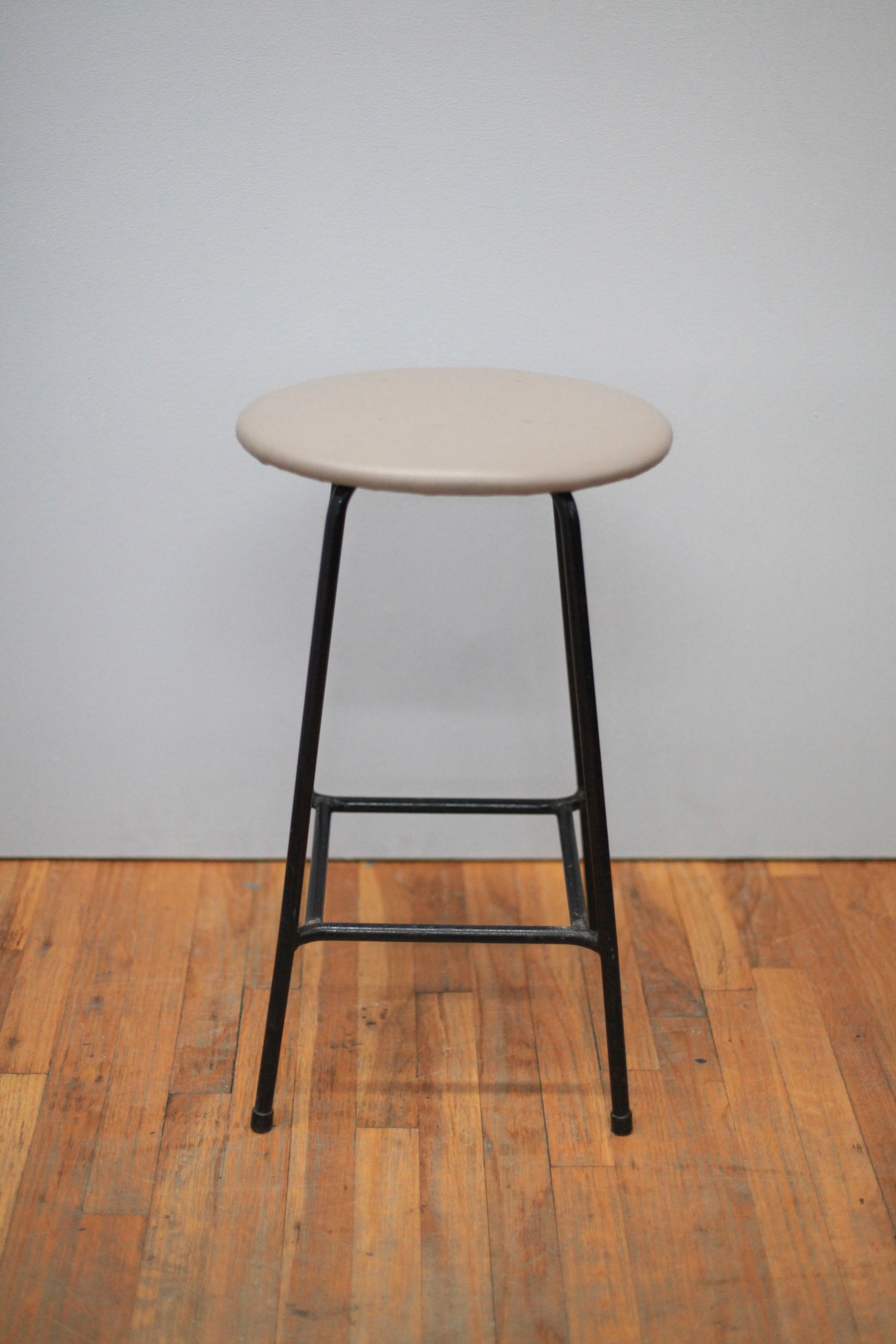 ST051  Oval seat and black steel stool  Made in USA  $150