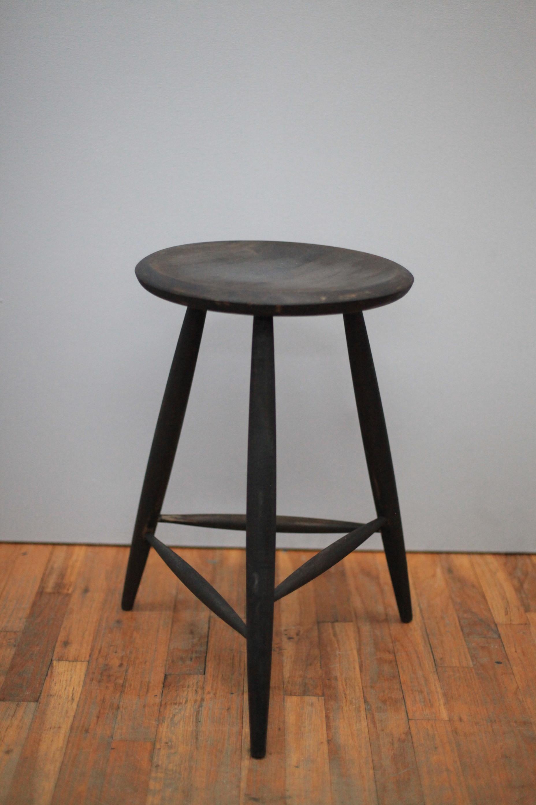 ST048  SHAKER, BLACK STAIN.  $150