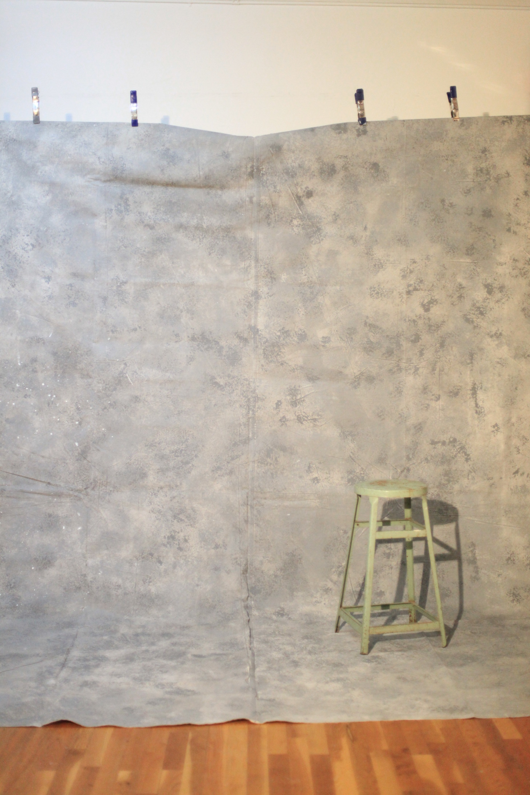 COOL GREY PAINTED BACKDROP  $350  11.5' X 8.5'