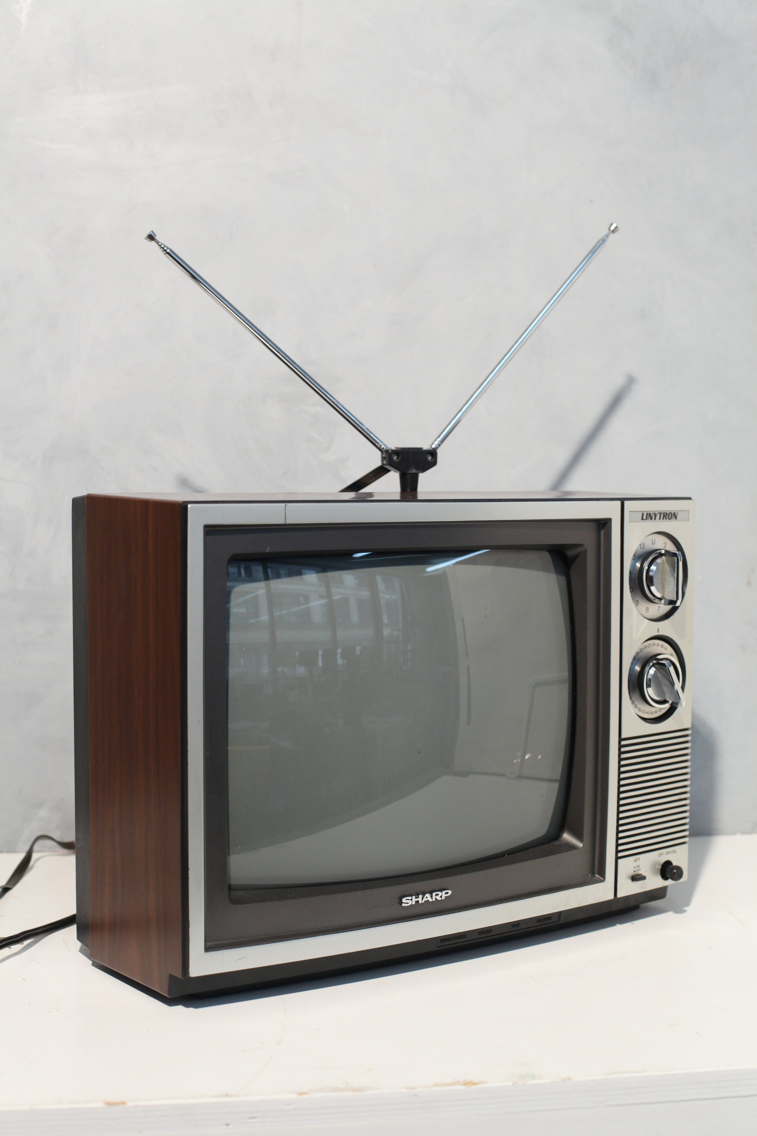 I AM CUTE. PRE-REMOTE CONTROL TELEVISION. $150, CAN BE RENTED WITH OR WITHOUT BUNNY EARS!