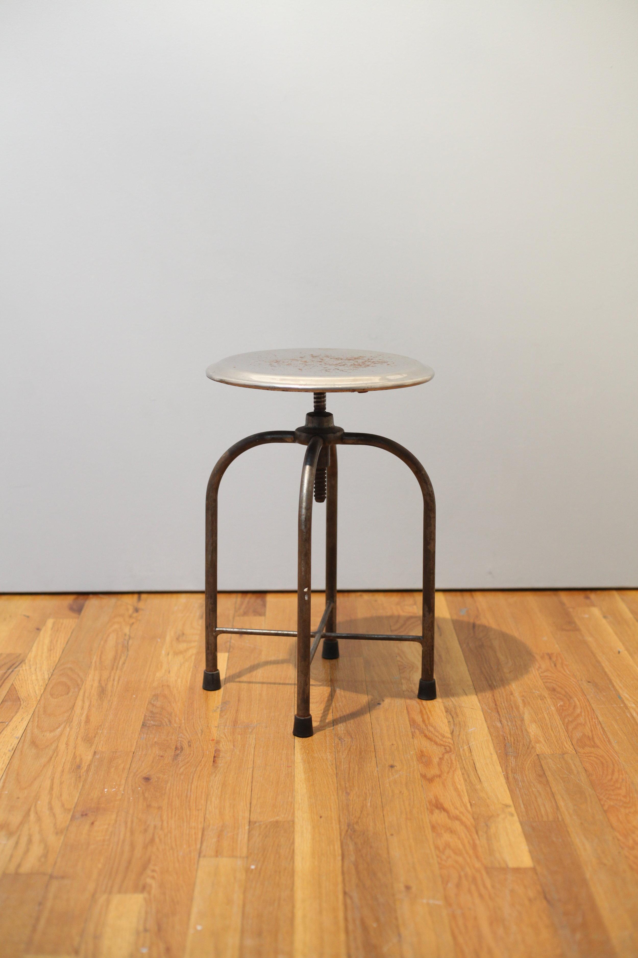 Machine Age Steel Swivel stool  $125