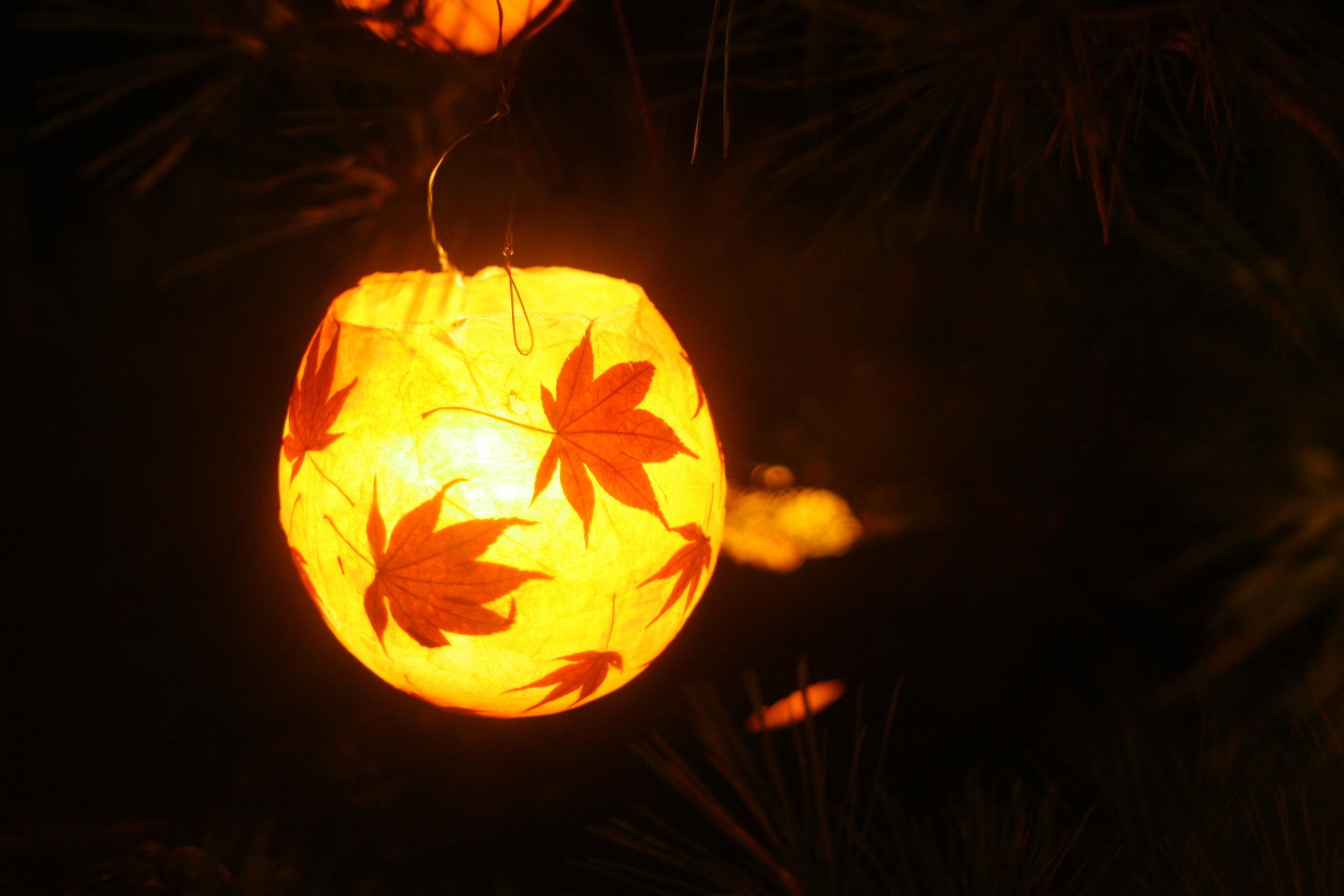 Globe lantern for sale, $15