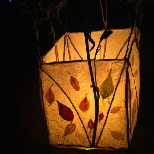 Nature Lantern - Create a lantern for your home using organic materials (pressed flower petals, twigs, leaves). Materials provided, or bring your own. Can be made in 2-4 hours.