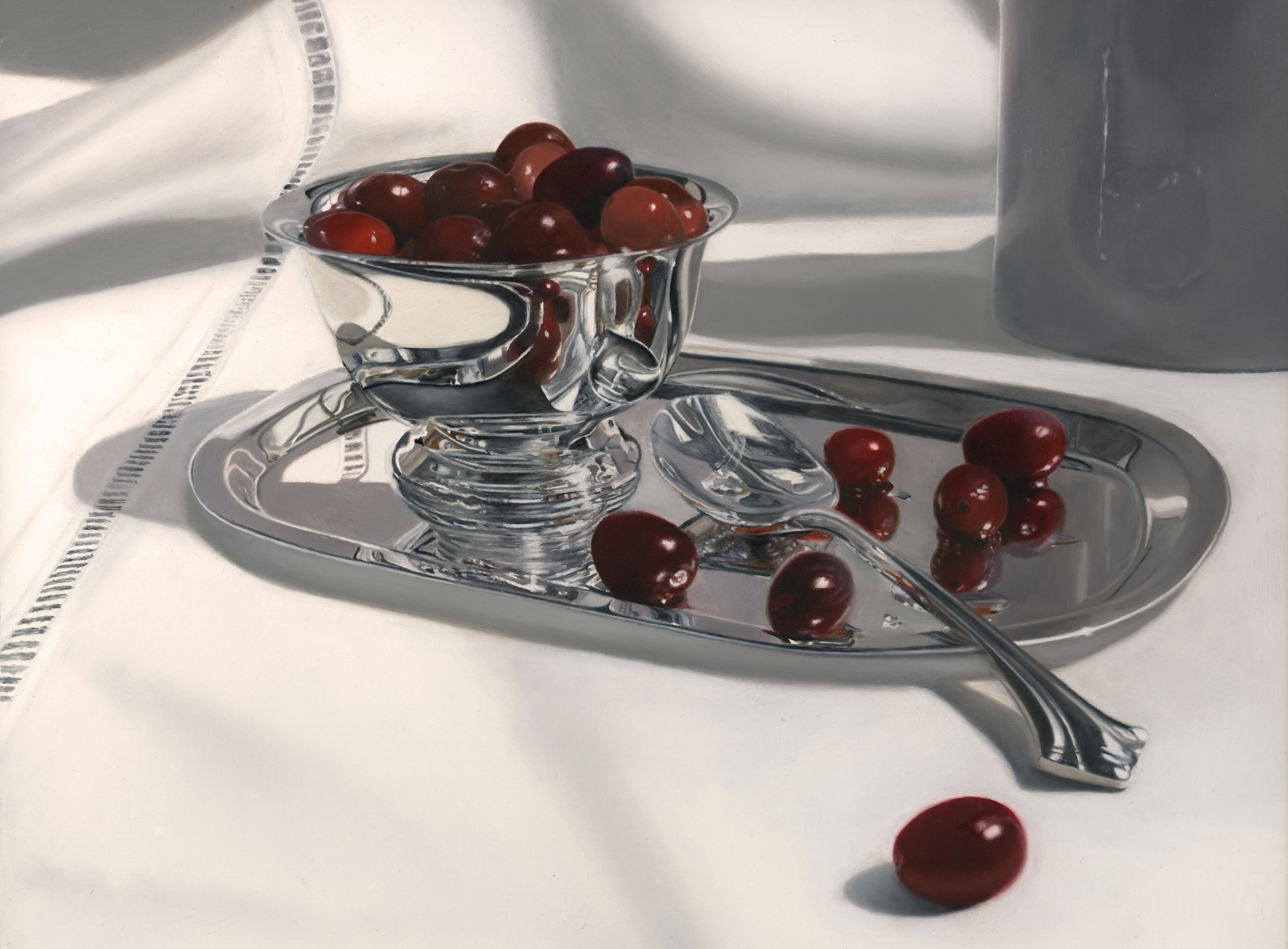 Cranberries  , Oil on Panel,  8 x 10 inches