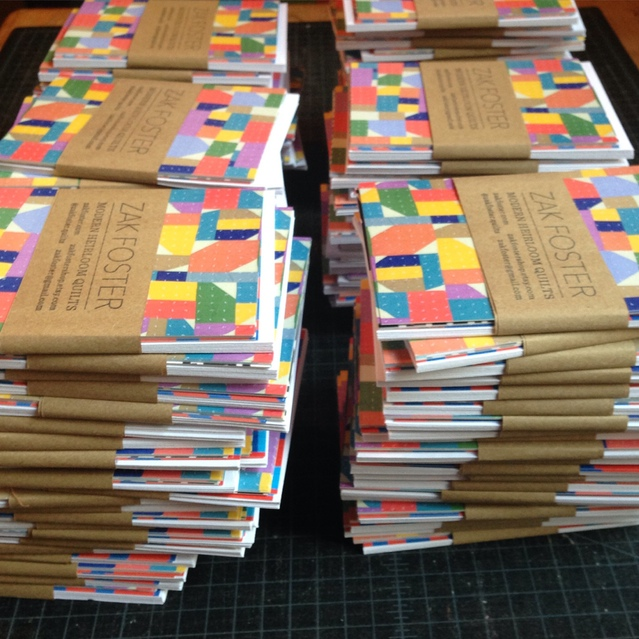 Packs and packs and packs of quilty notecards