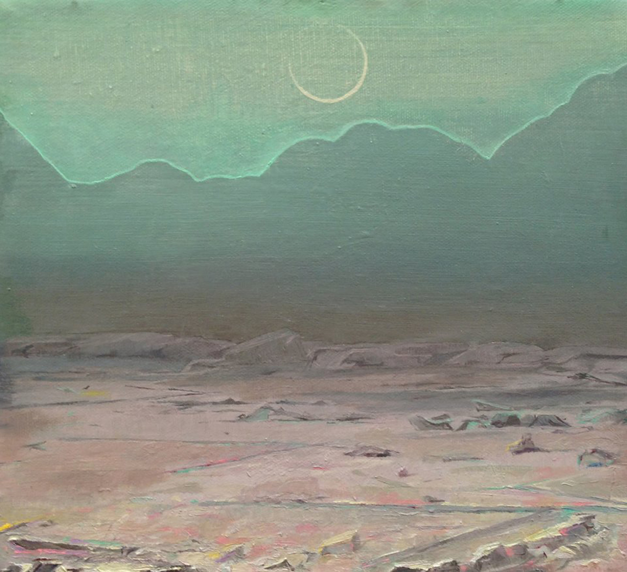 """""""New Moon,"""" 2014, oil on canvas, 10x9 in."""
