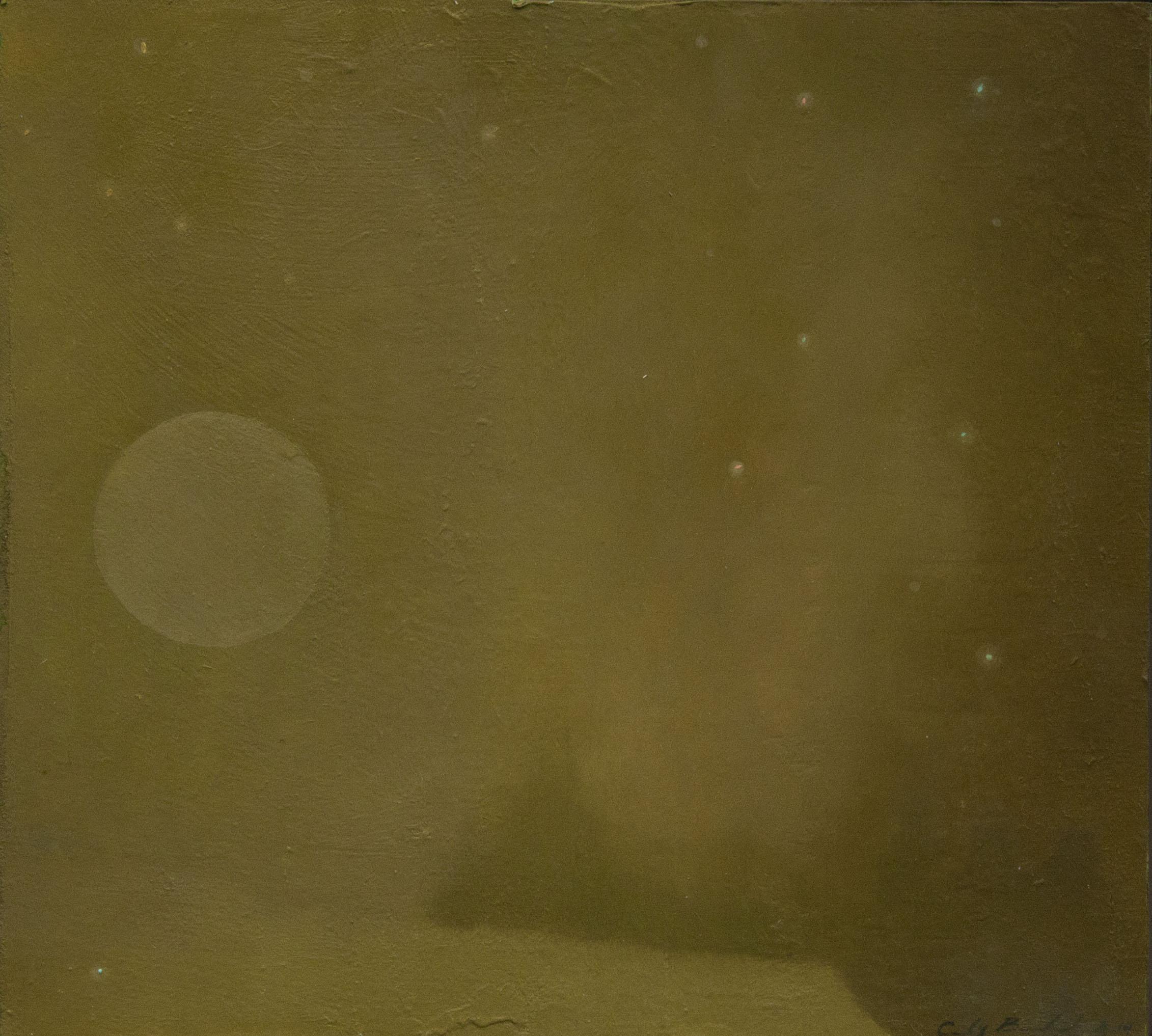 """St. Elmo,"" 2014, oil on paper, 10x9 in."