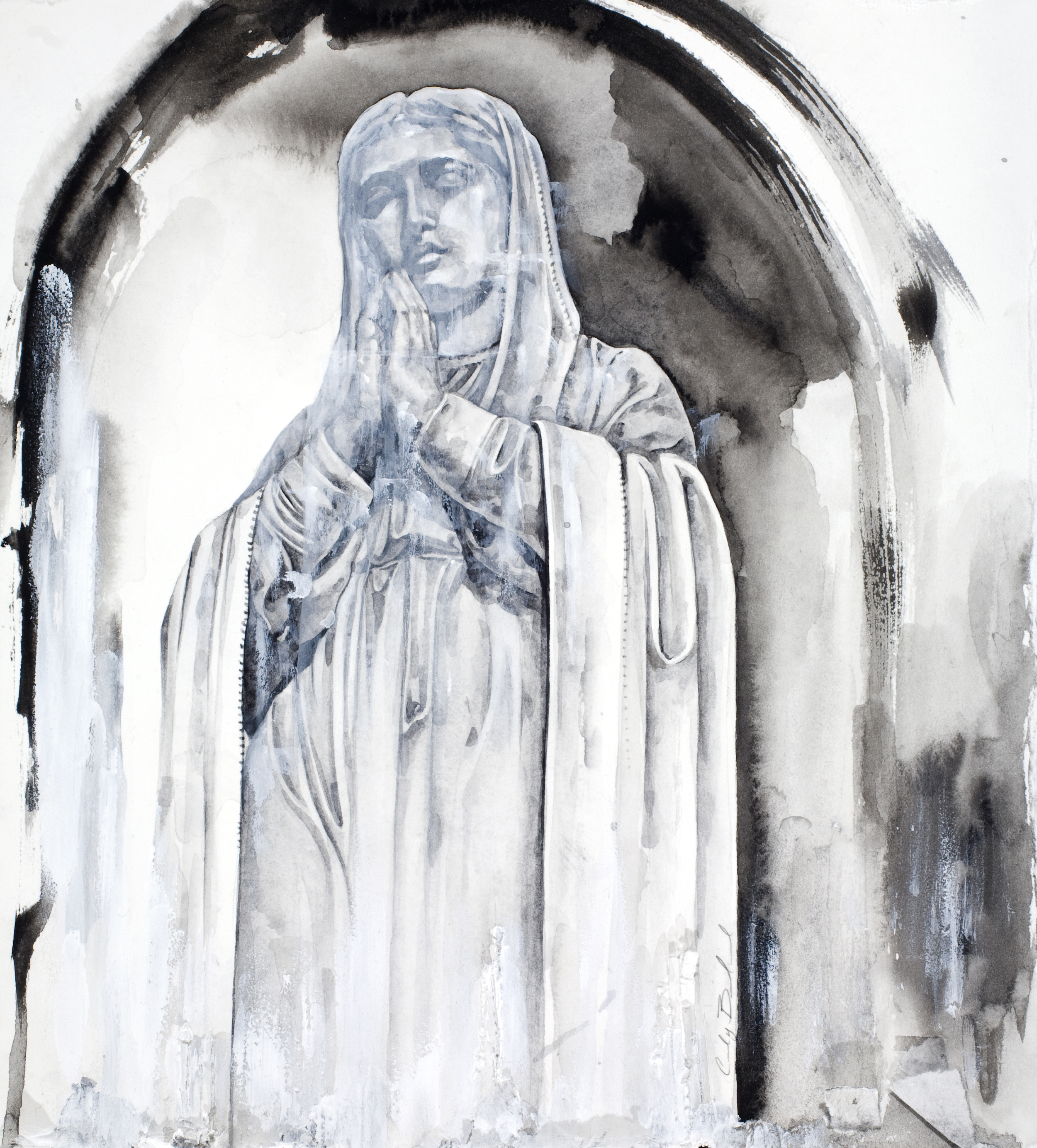 """""""Mary"""", 2012, watercolor on paper, 10.5x9.5 in."""
