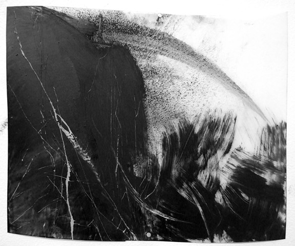 """""""3:00 pm,"""" 2012,charcoal and gesso on mylar"""