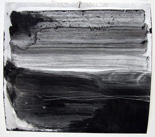"""""""Ab 6,"""" 2012,charcoal and gesso on mylar"""