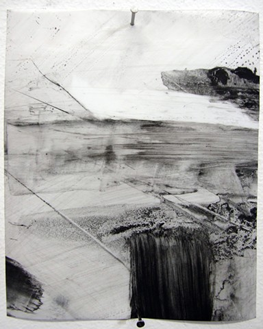 """""""Ab 18,"""" 2012,charcoal and gesso on mylar"""