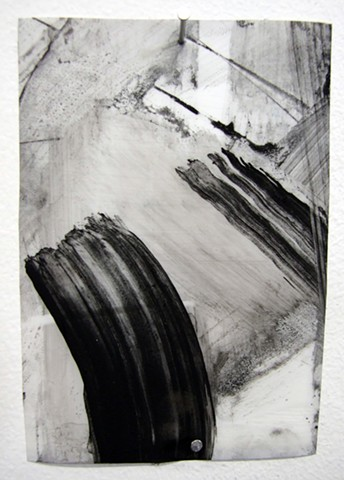 """""""Ab 22,"""" 2012,charcoal and gesso on mylar"""