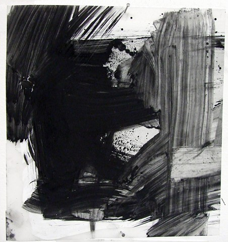 """""""Ab 23,"""" 2012,charcoal and gesso on mylar"""