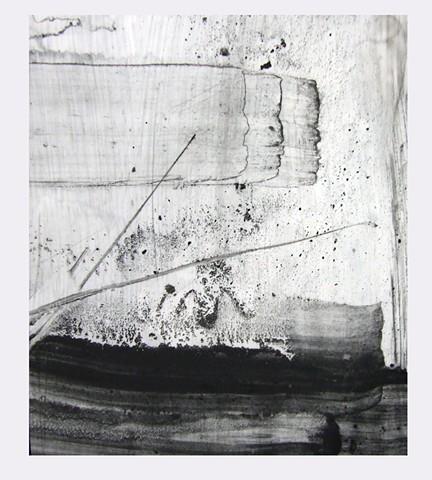 """For Edward Hamel,"" 2012,charcoal and gesso on mylar"