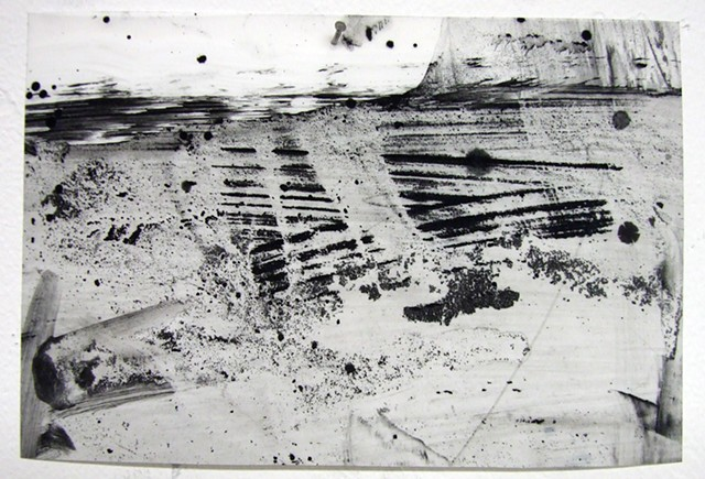 """""""Father,"""" 2012,charcoal and gesso on mylar"""