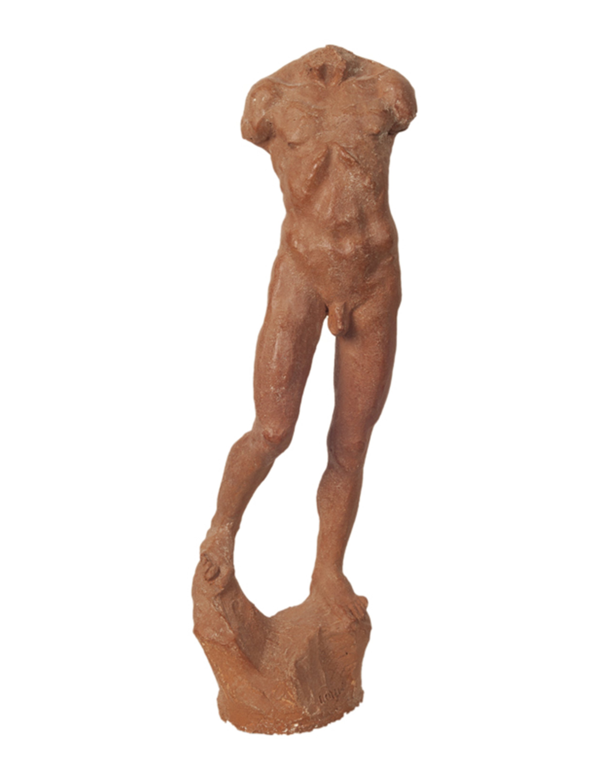 """Studio di Figura,"" 2011, terracotta, 45x13x10 in."