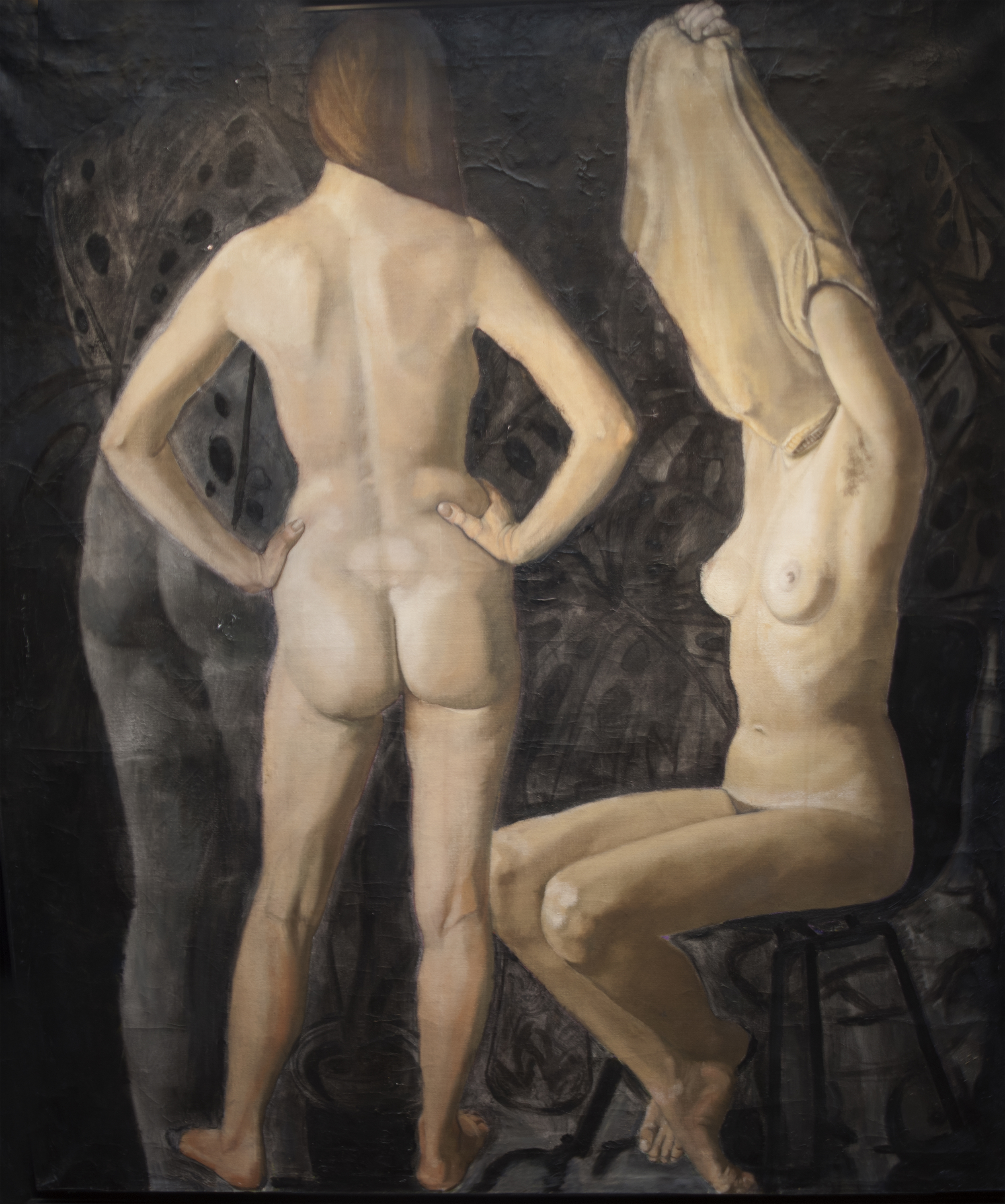 """Three Figures,"" 1974, oil on canvas, 48x43 in."