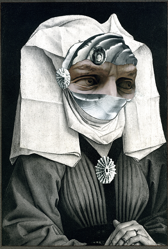 """Margaret,"" 2014, collage on paper, 11.5x7.75 in."