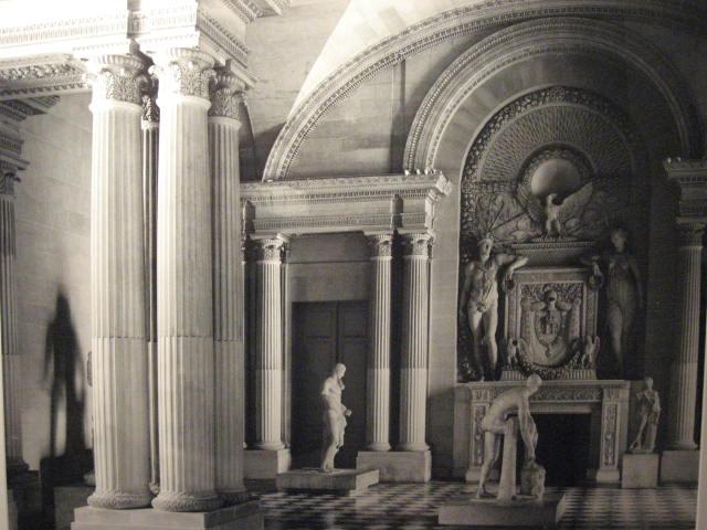 """""""Musee Louvre Pavillon (Courcarree) Salle des Cariatides, (Paris),"""" 2009, photograph,20x24 in."""