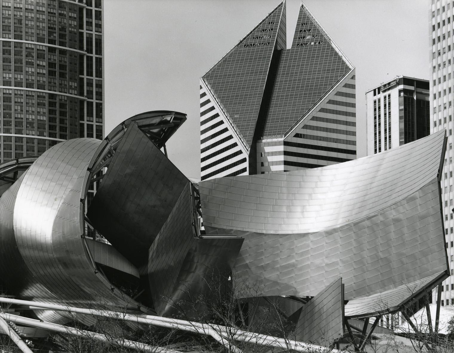 """""""Jay Pritzker Pavillion, Millenium Park,"""" 2006, photograph, 32x40 in."""
