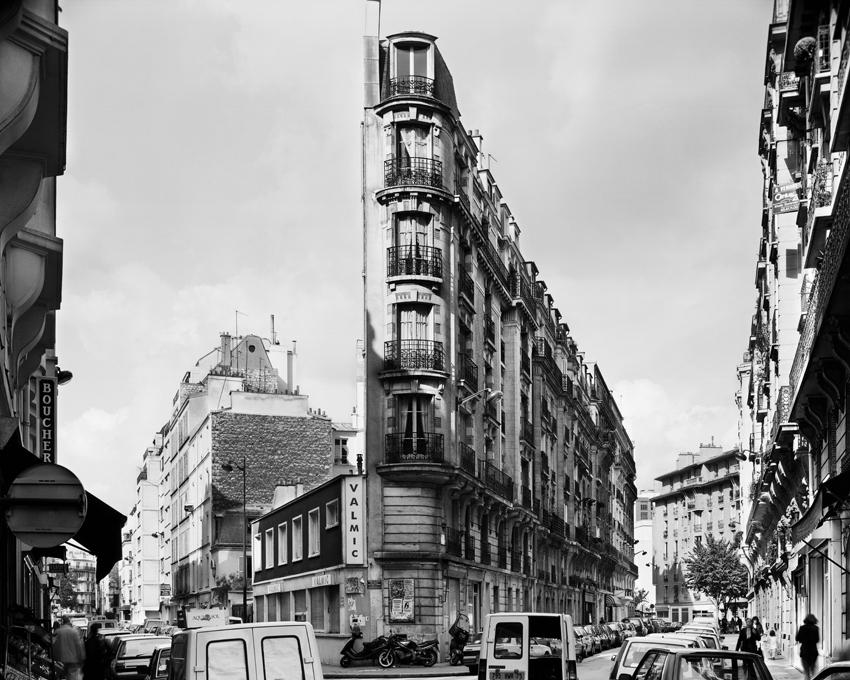 """Rue de la Sablierre, Montparnasse,"" 1993, photograph, 32x40 in."