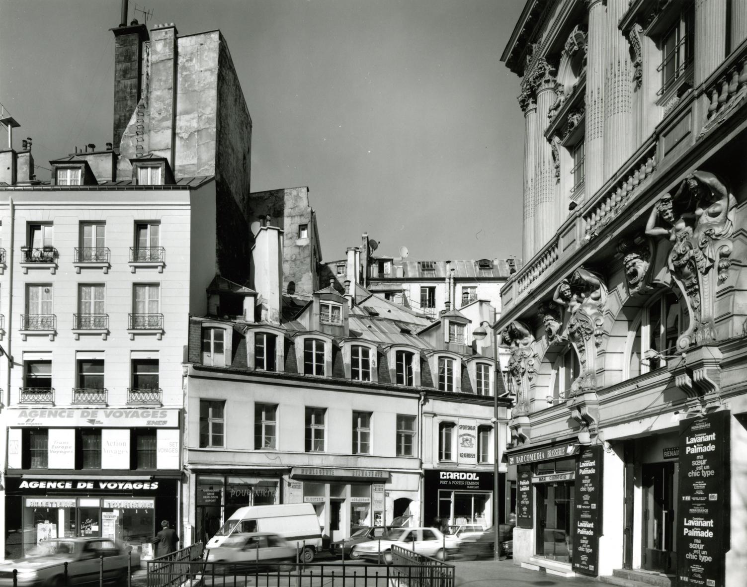 """""""Theatre de la Renaissance, Porte Saint-Martin,"""" 1993, photograph, 20x24 in."""