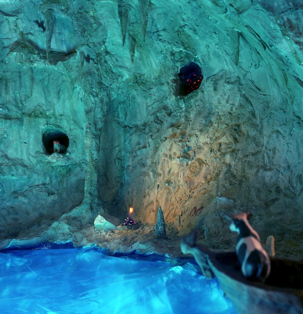 """""""In the Blue Grotto,"""" 1998, c-print, 19x17.5 in."""