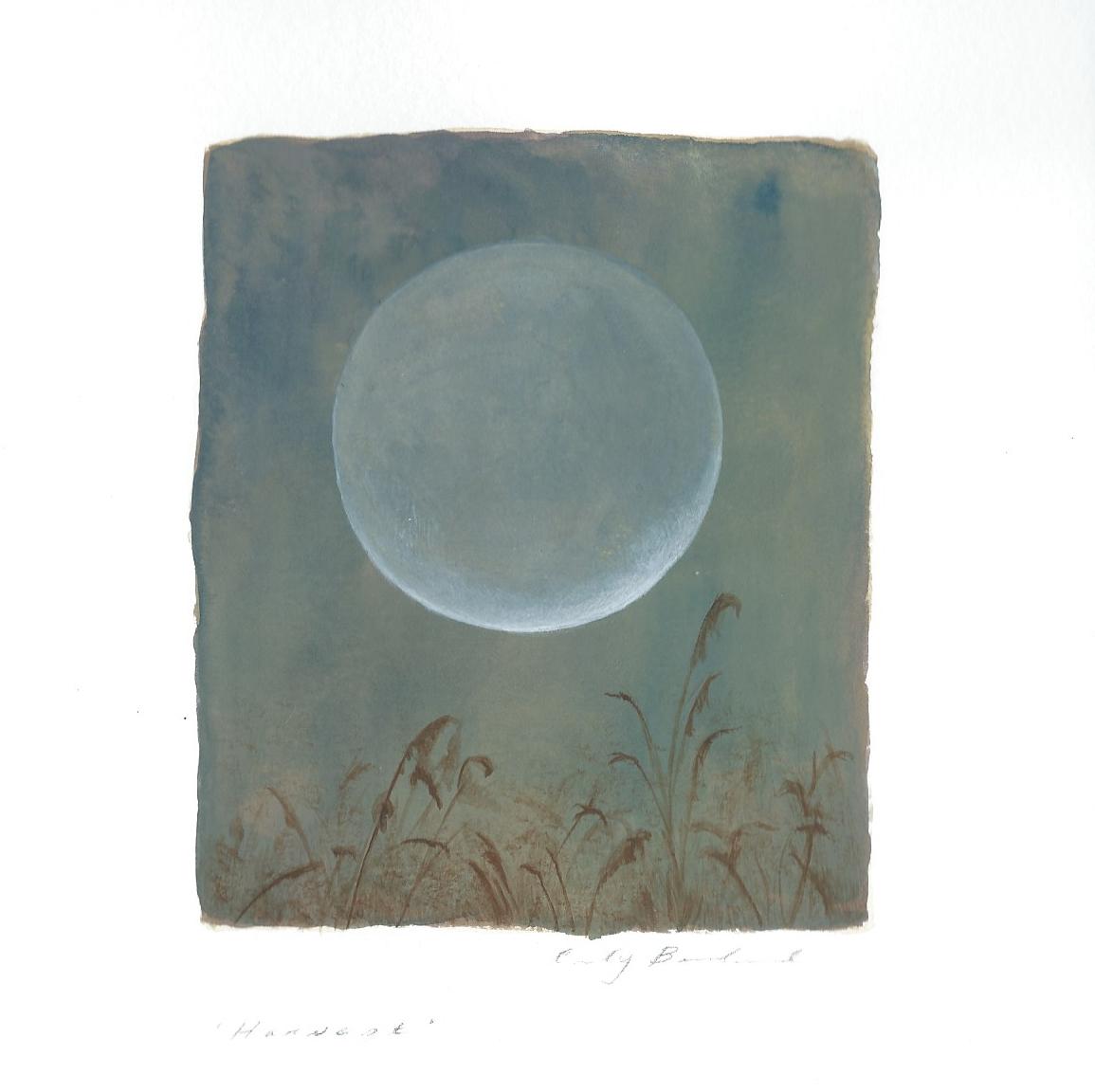 """Harvest,"" 2015, gouache on paper, 6x6 in."