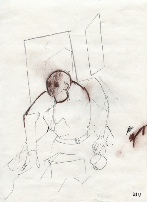 """Figure in Studio,"" 1995, archival ink jet print, 24x18 in."