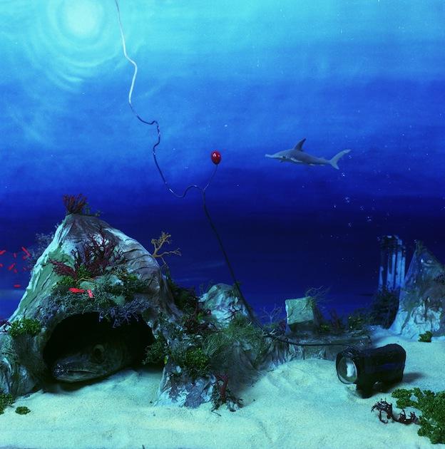 """Cow Underwater,"" 1998, c-print, 19x17.5 in."