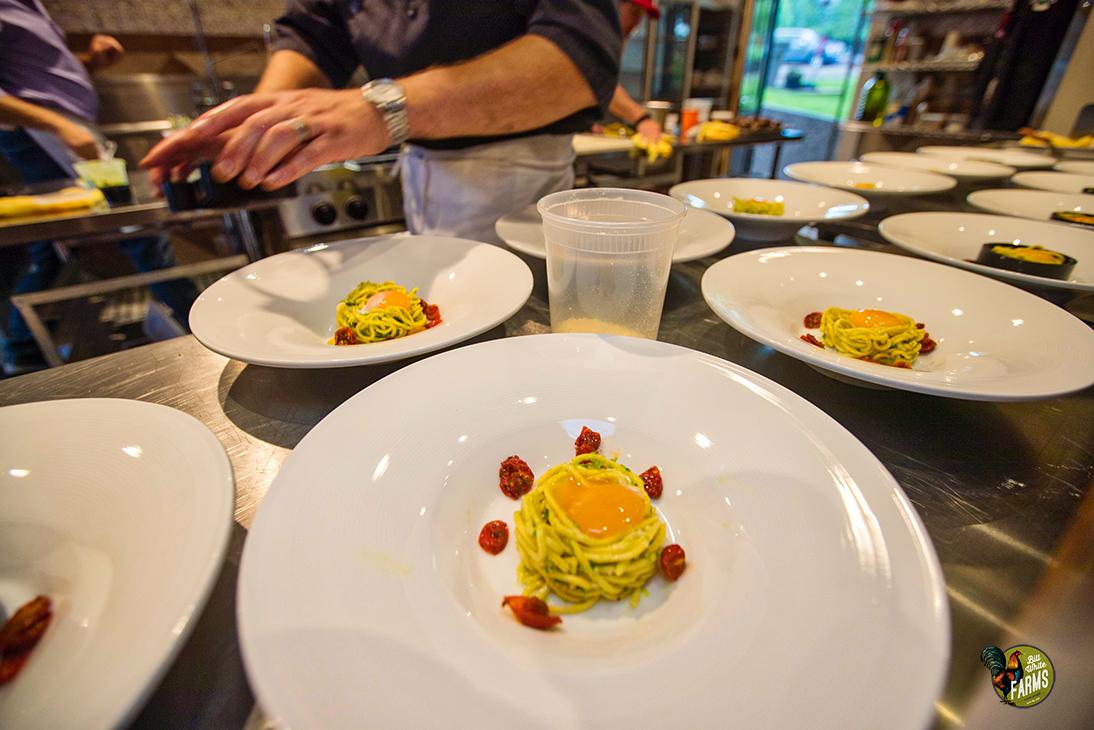 Appetizer: spaghetti + scapes