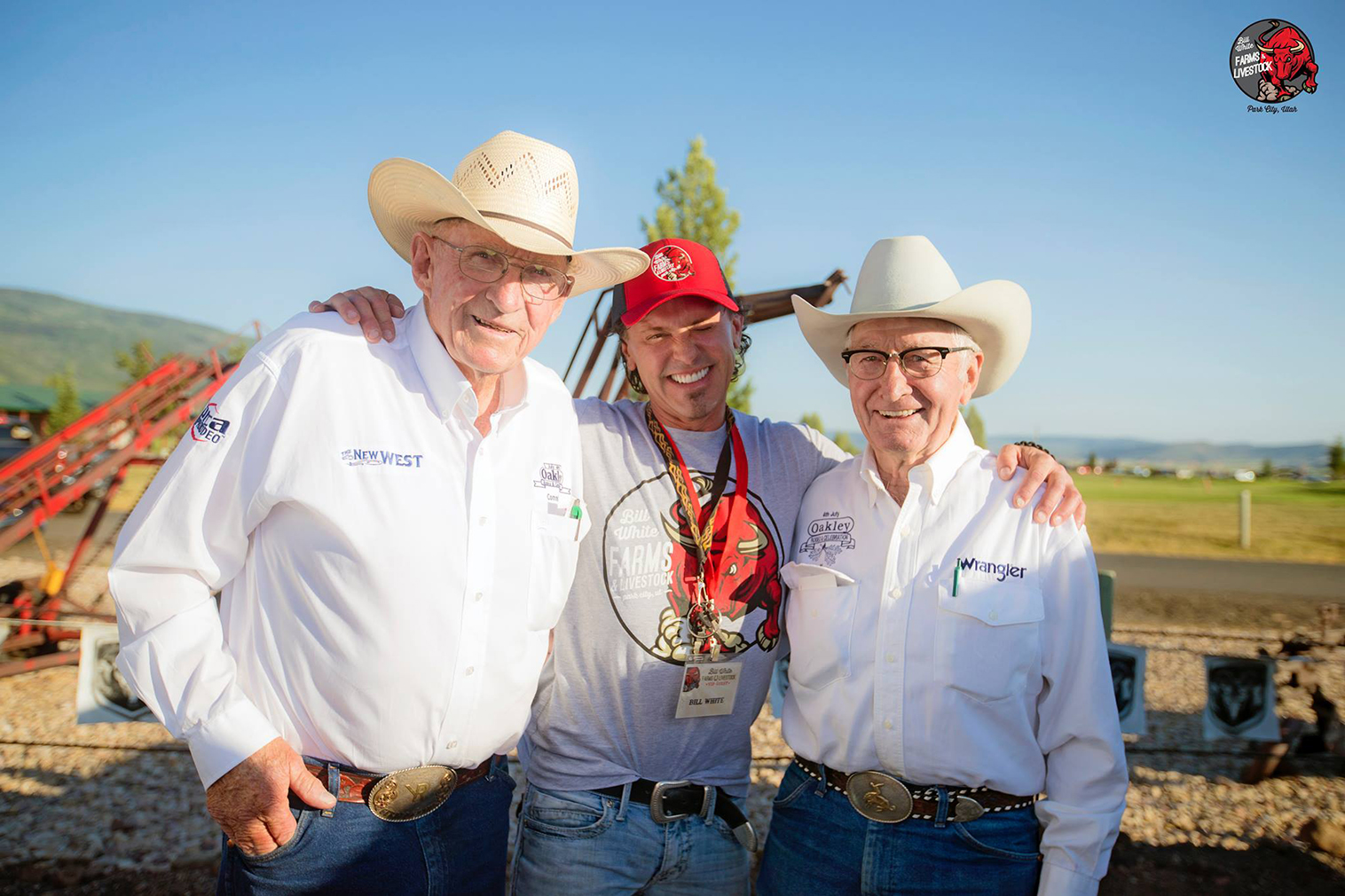 Gerald Young, Bill White, and Ken Woolstenhulme at the Oakley Rodeo 2017.