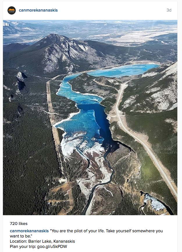 Image from the Canmore Kananaskis Tourism Instagram page.