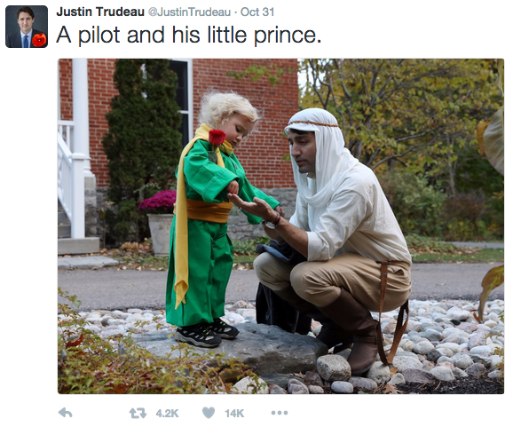 Image from Trudeaus Twitter account @JustinTrudeau.
