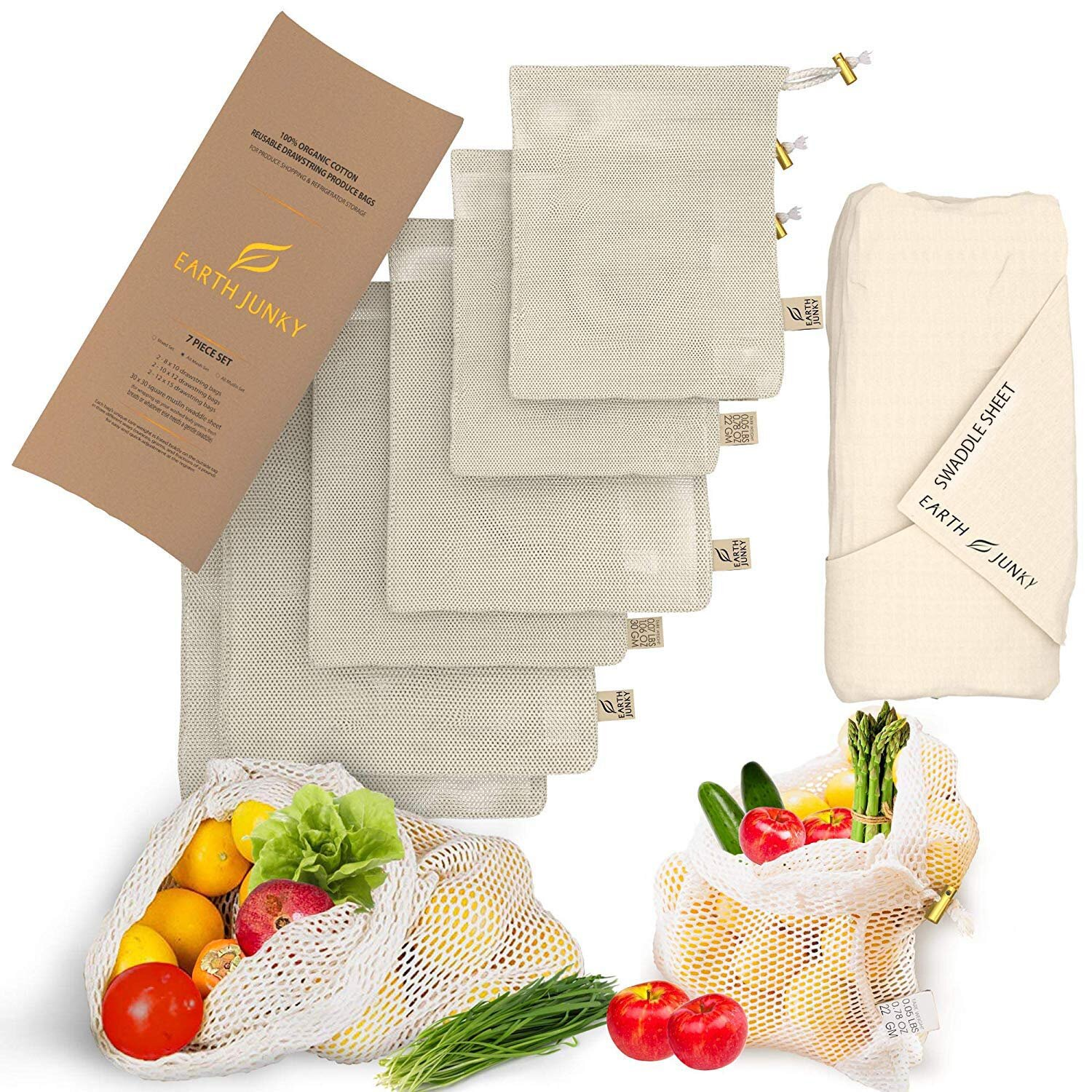 Organic Reusable Mesh Produce Bags