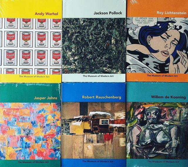 Can't wait to read these! #moma #momaartistseries #campbellssoupforthesoul #jasperjohns #willemdekooning #roylichenstein #jacksonpollock #robertrauschenberg #andywarhol