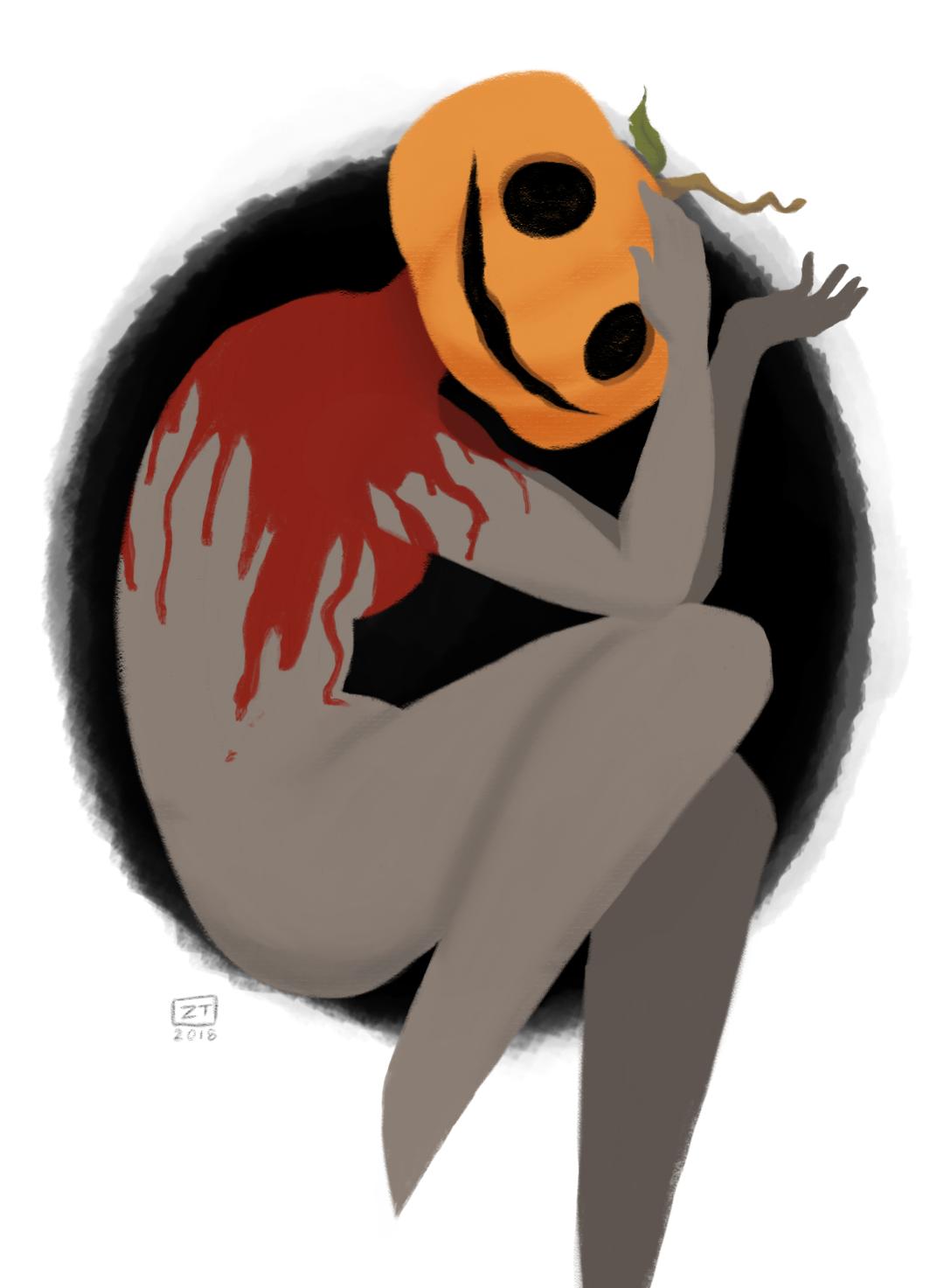 Pumpkin Girl Returns  Original Work   Autodesk Sketchbook, 2018