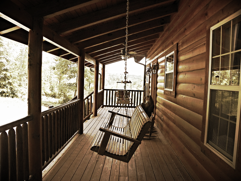Laurel Fork Rustic Retreat About Us porch swing