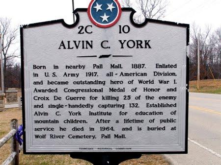 Sergeant Alvin C. York Historic Park sign
