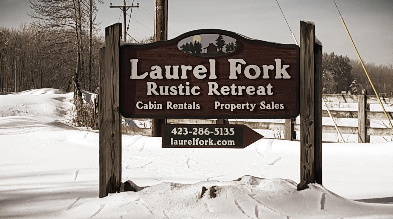 Main Entrance to Laurel Fork Rustic Retreat